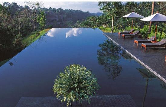 农村泳池别墅设计图片-双铺面房子设计图片