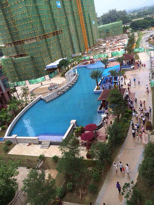 肇庆四会旺城壹号房地产小区泳池工程