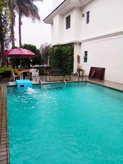 广州二沙岛新世界花园别墅s350一体化泳池工程