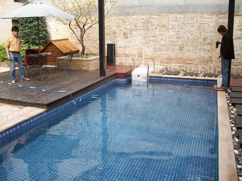 广州金域蓝湾FX25私家别墅泳池工程