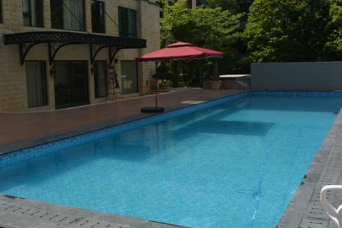 珠海万威森林园私家别墅拆装式游泳池工程