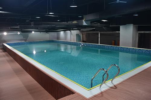 广东湛江廉江奥派斯健身俱乐部拆装式整体泳池工程