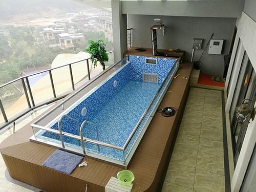 惠州巽寮湾复式别墅拆装式泳池工程