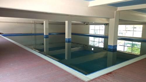 湖北襄阳创一教育培训学校钢结构拆装式泳池工程