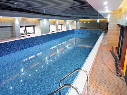 湖北武汉渥格健身会所钢结构恒温泳池工程(武昌店)