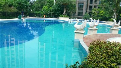 东莞石碣镇中熙·君墅湾小区一体化泳池工程