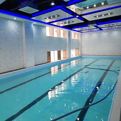 惠州爱特健身会所拆装式恒温泳池工程